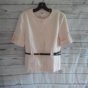 Talbot's Blush Pink Lined Jacket Snap Closure